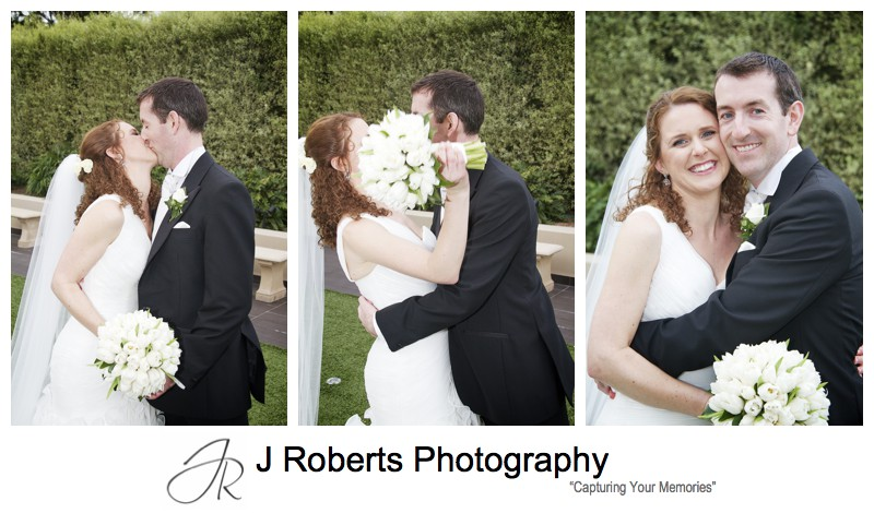 Very excited bride and groom after ceremony - wedding photography sydney