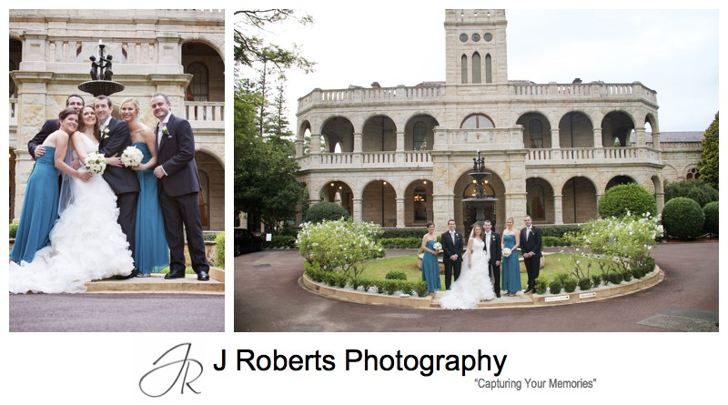 Bridal party outside Curzon Hall - wedding photography sydney