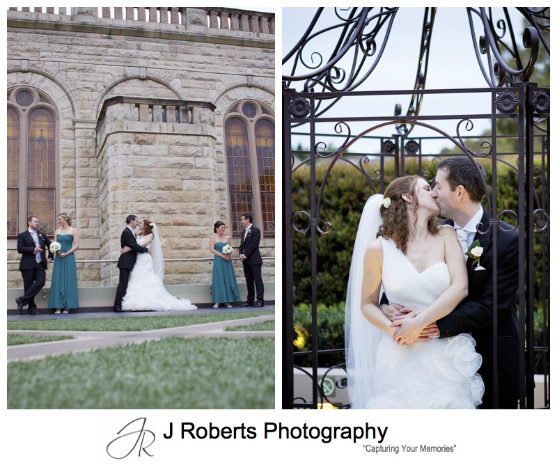 Kissing couple - wedding photography sydney