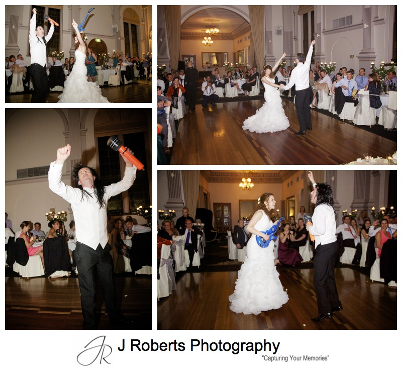 Bridal waltz to Bon Jovi = wedding photography sydney