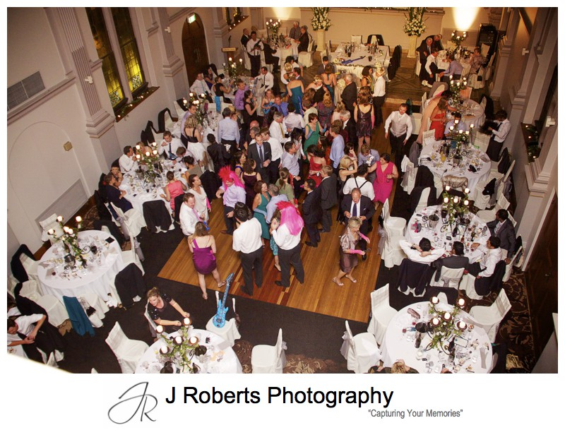 Rocking wedding reception dance floor - wedding photography sydney