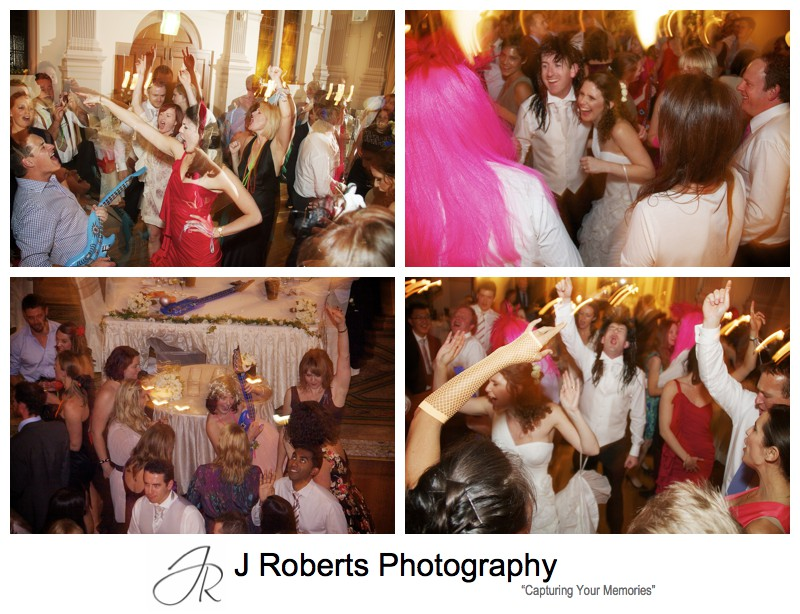 Dancefloor action - wedding photography sydney