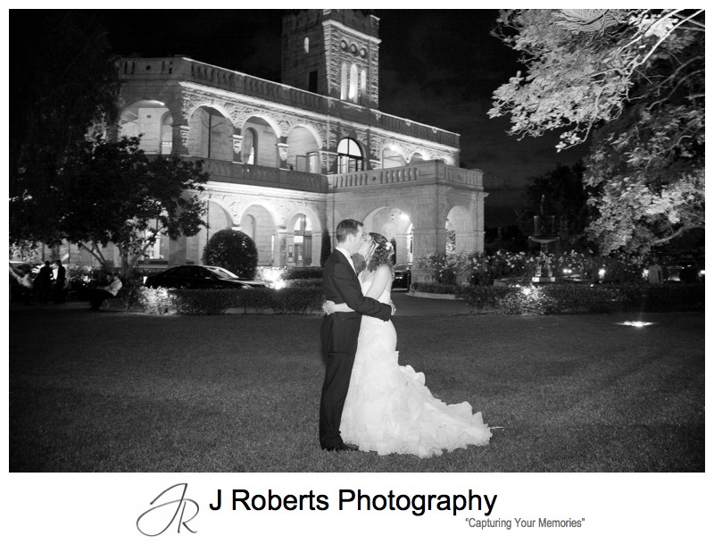 Night photographs at curzon hall - wedding photography sydney