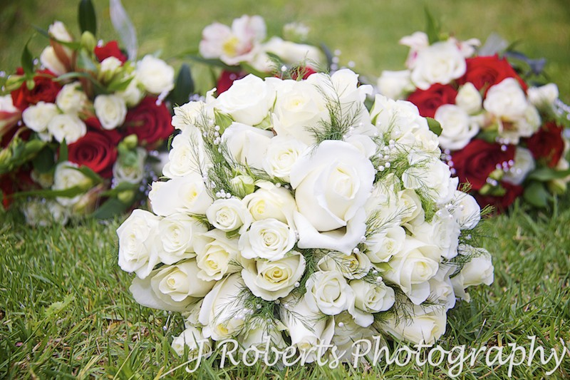 Bridal bouquet in white - wedding photography sydney
