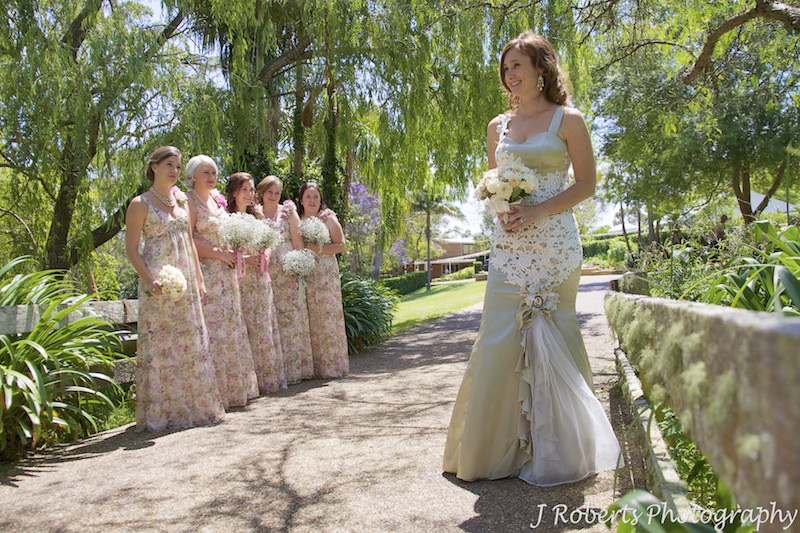 Rustic garden wedding bride - wedding photography sydney
