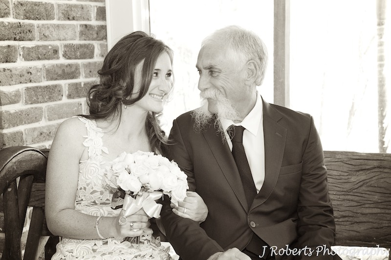 Bride and her father - wedding photography sydney