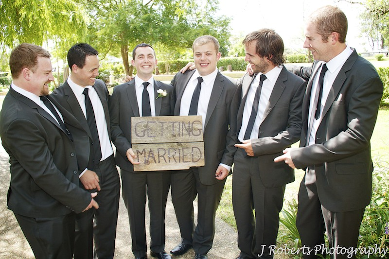 Groom getting married - wedding photography sydney