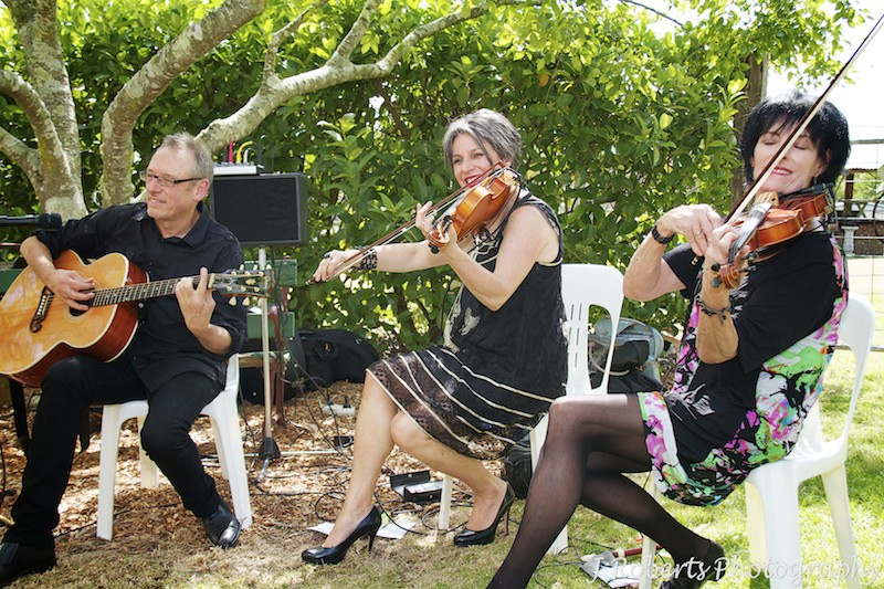 String trio at garden party wedding - wedding photography sydney