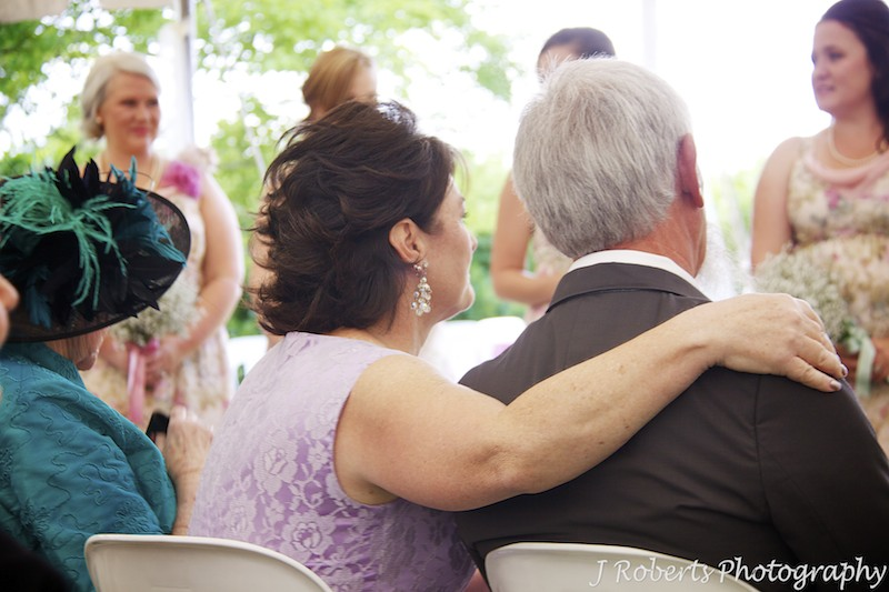 Parents of bride sharing the moment -wedding photography sydney