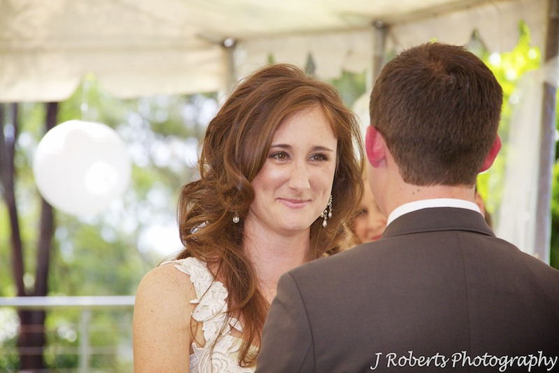 Bride looking into grooms eyes - wedding photography sydney