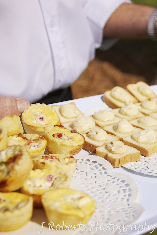 canapes at garden party wedding - wedding photography sydney