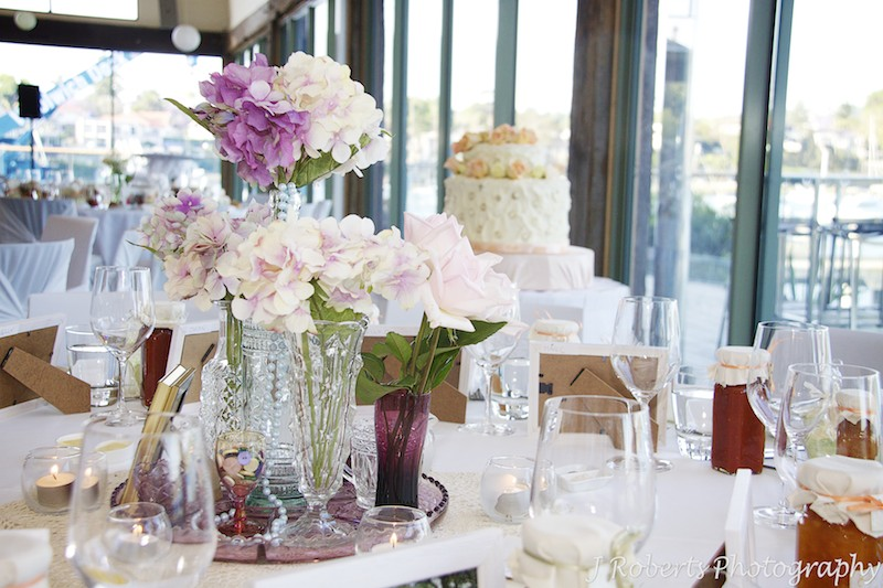 Reception decoration at The Deckhouse Woolwich = wedding photography sydney