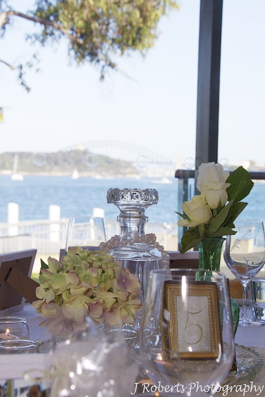 Table settings at The Deckhouse Woolwich = wedding photography sydney