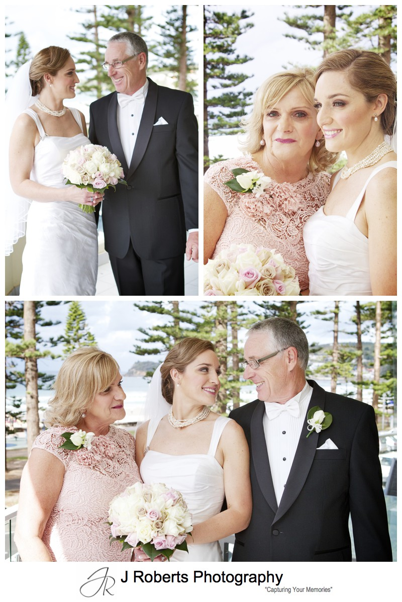 Bride with her parents - wedding photography sydney