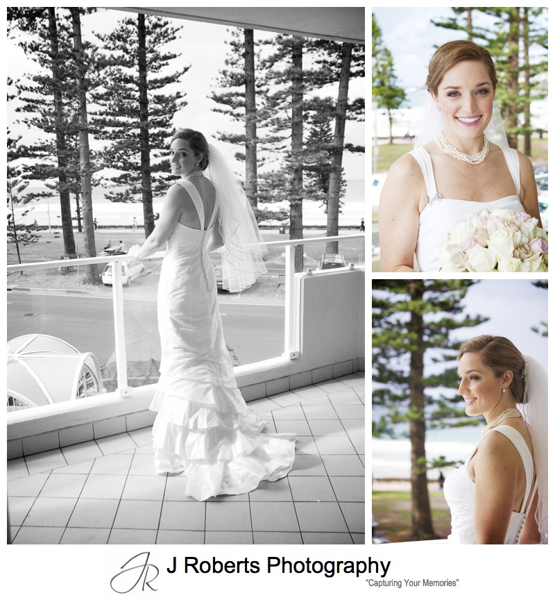 Portraits of a bride before the ceremony - wedding photography sydney