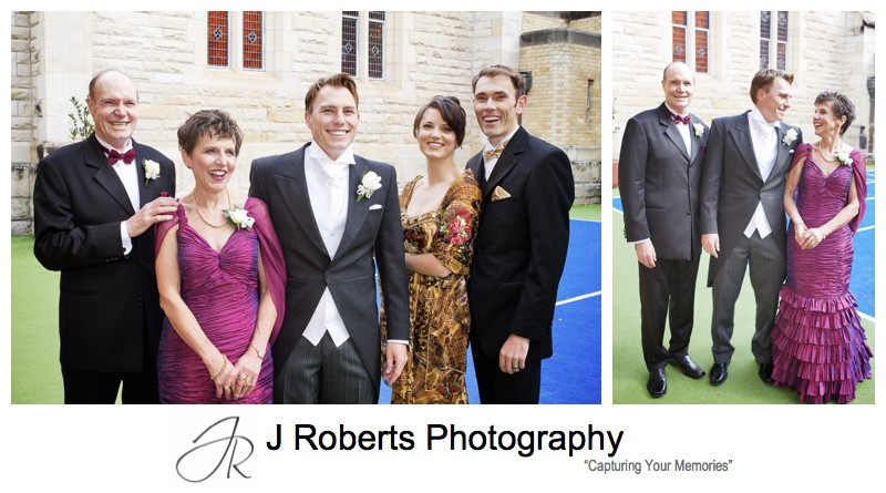 Groom with his family - wedding photography sydney