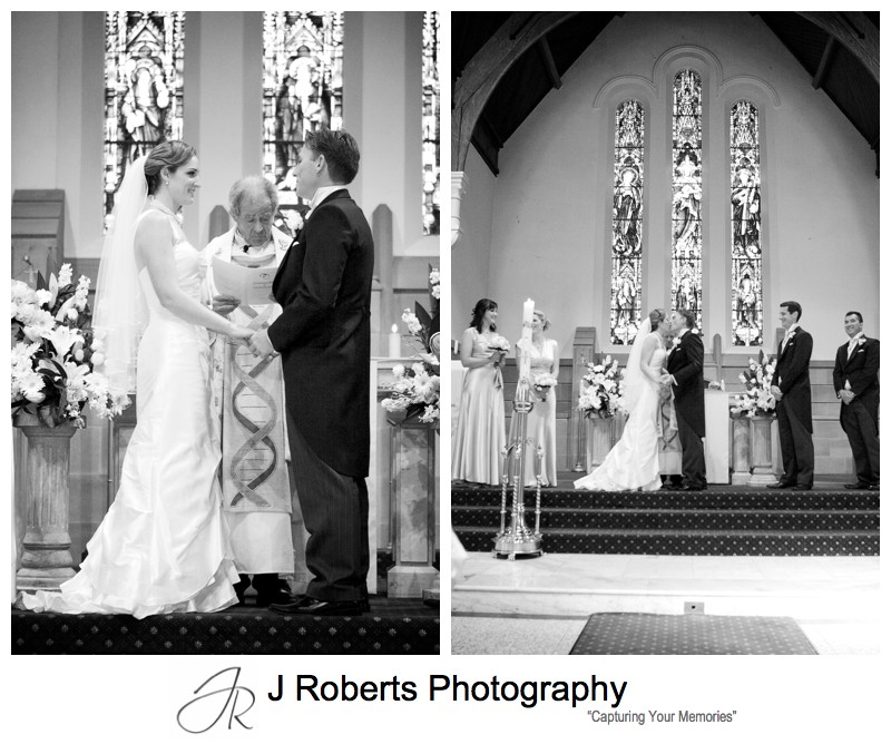 Couples first kiss - wedding photography sydney
