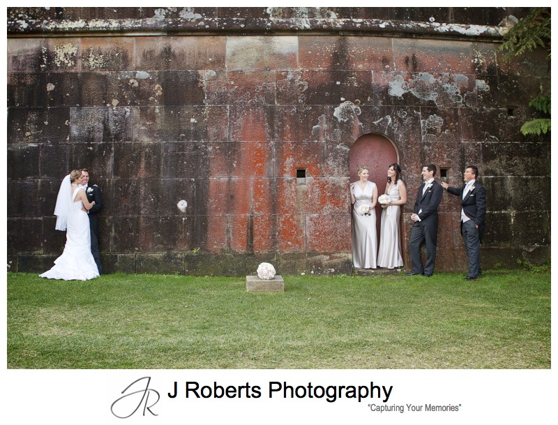 Bridal party at Gunners Barracks Mosman - wedding photography sydney