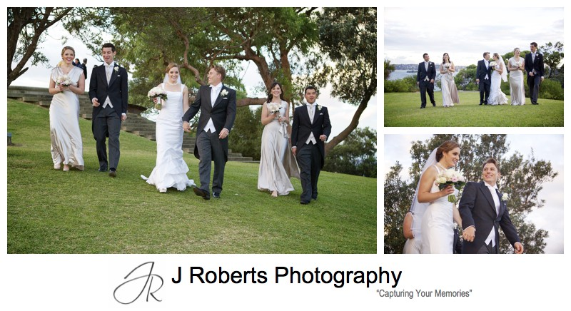Wedding photography at Georges Heights Headland Mosman - wedding photography Sydney