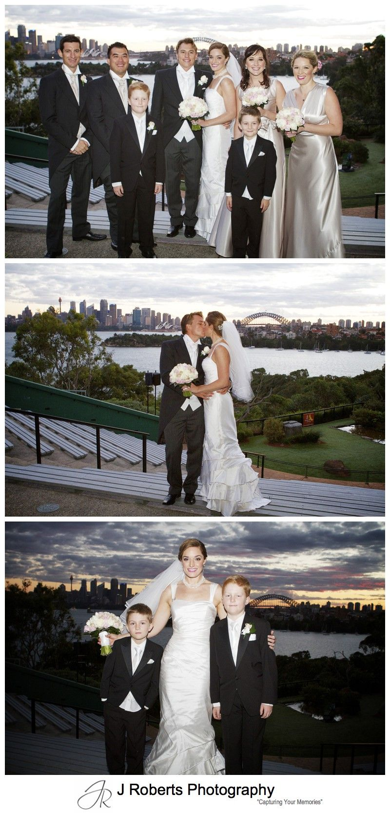Sunset wedding photographs at Taronga Zoo Sydney - wedding photography sydney