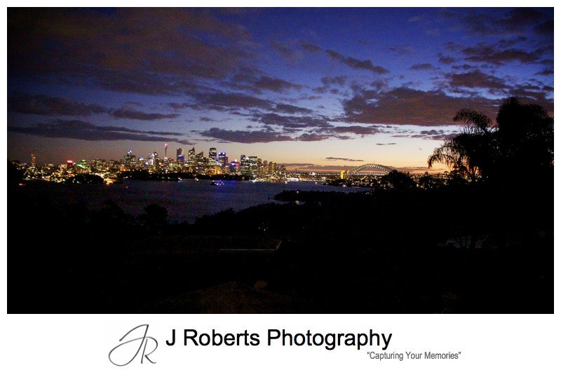 Sunset from the Taronga Zoo Function Centre - wedding photography sydney
