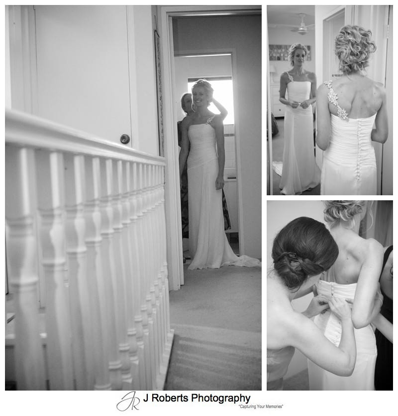 B&W details of bride getting ready - wedding photography sydney