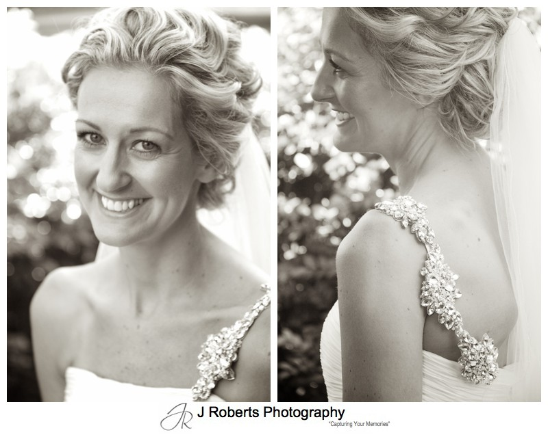 Sepia portraits of a bride - wedding photography sydney