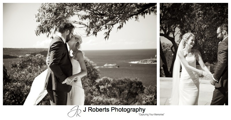 Sepia bridal photos - wedding photography sydney