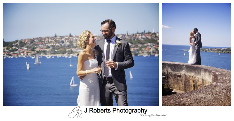 Wedding portraits on Sydney harbour - wedding photography sydney