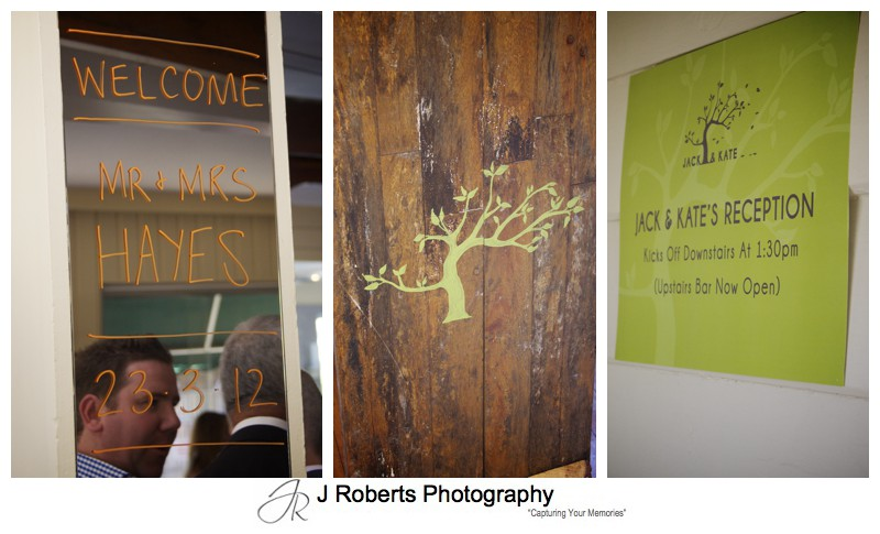 Wedding Reception at Mosman Rowing Club - wedding photography sydney