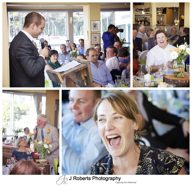Wedding speeches - wedding photography sydney