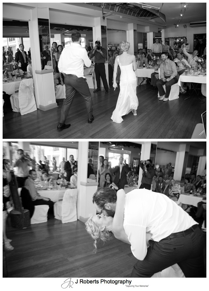 End to funky bridal waltz - wedding photography sydney