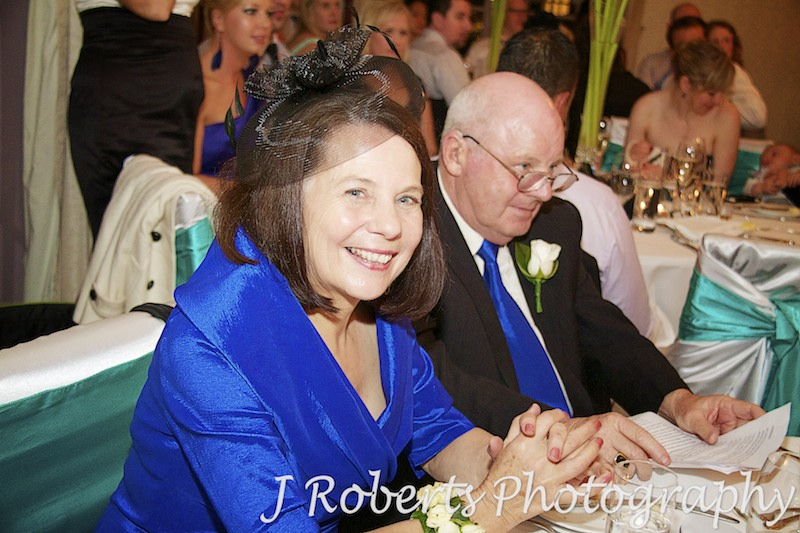 Mother of the bride enjoying the speeches - wedding photography sydney