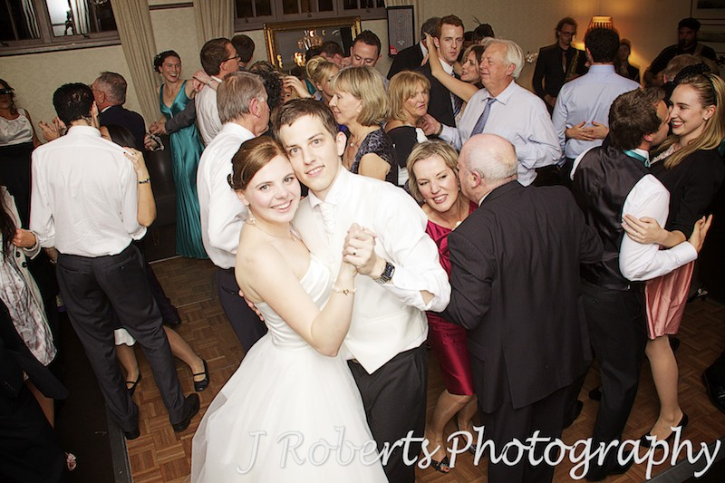 Bride and groom on the dance floor at The Tea Room Gunners' Barracks - wedding photography sydney