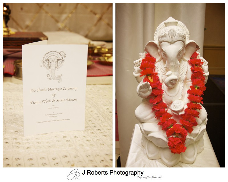 Hindu Marriage Blessing at Sydney Harbour Marriott - wedding photography sydney