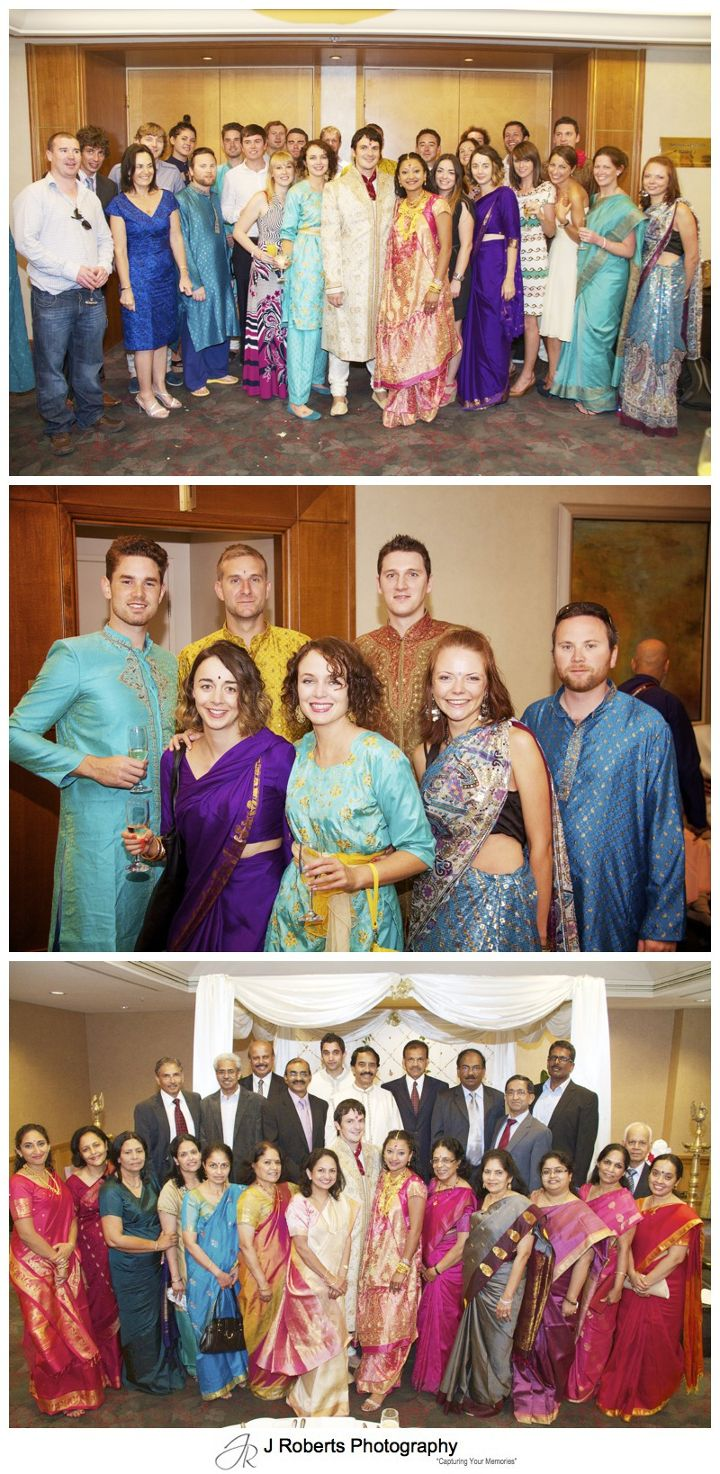 Group photos at a Hindu Marriage Blessing - wedding photography sydney