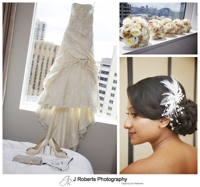Wedding dress and details of traditional bride - wedding photography sydney