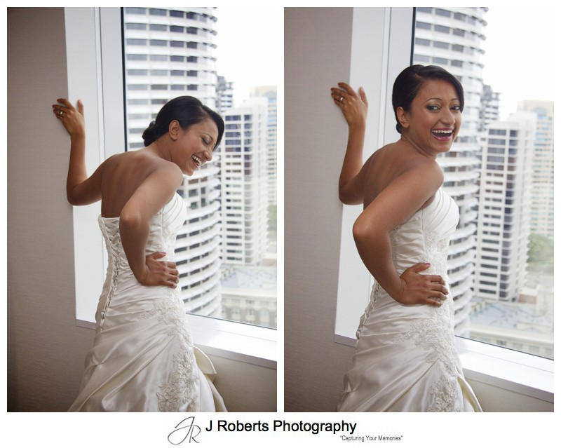 Laughing Bride - wedding photography sydney