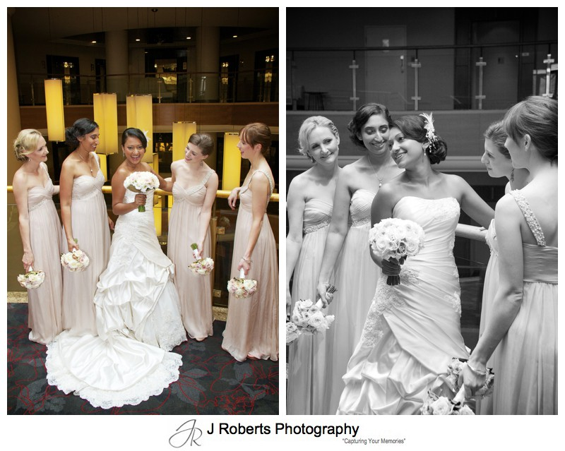 Portraits of Bride with her bridesmaids - wedding photography sydney