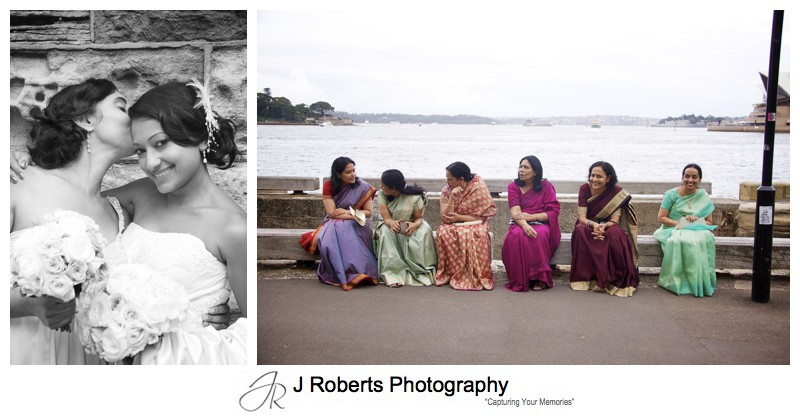 Indian ladies along Sydney foreshore - wedding photography sydney