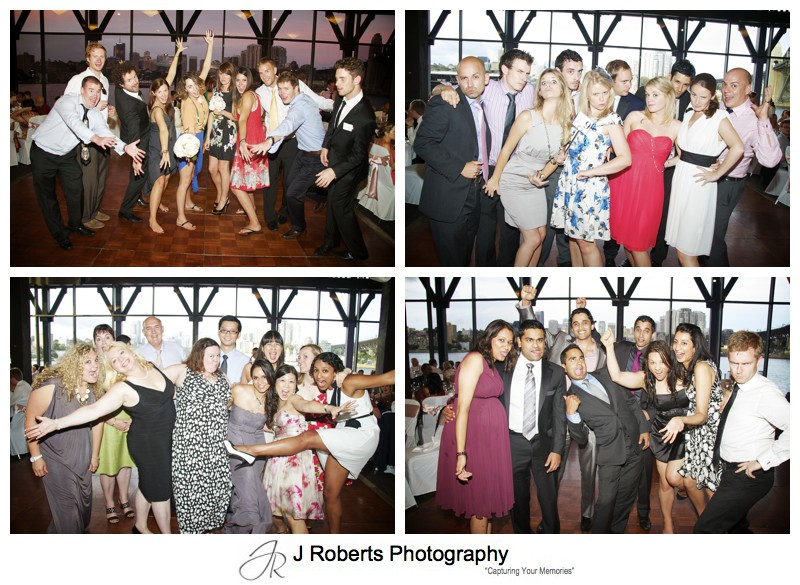 Guests fun group photos - wedding photography sydney