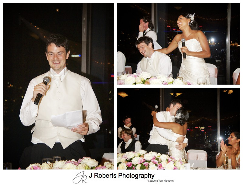 Bride and grooms wedding speeches - wedding photography sydney