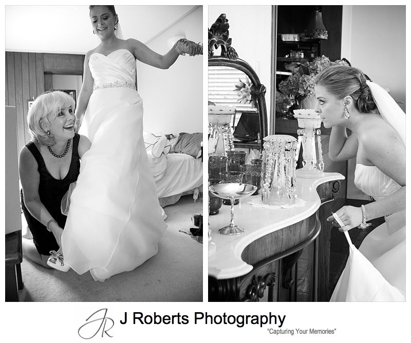 Bride getting ready - wedding photography sydney