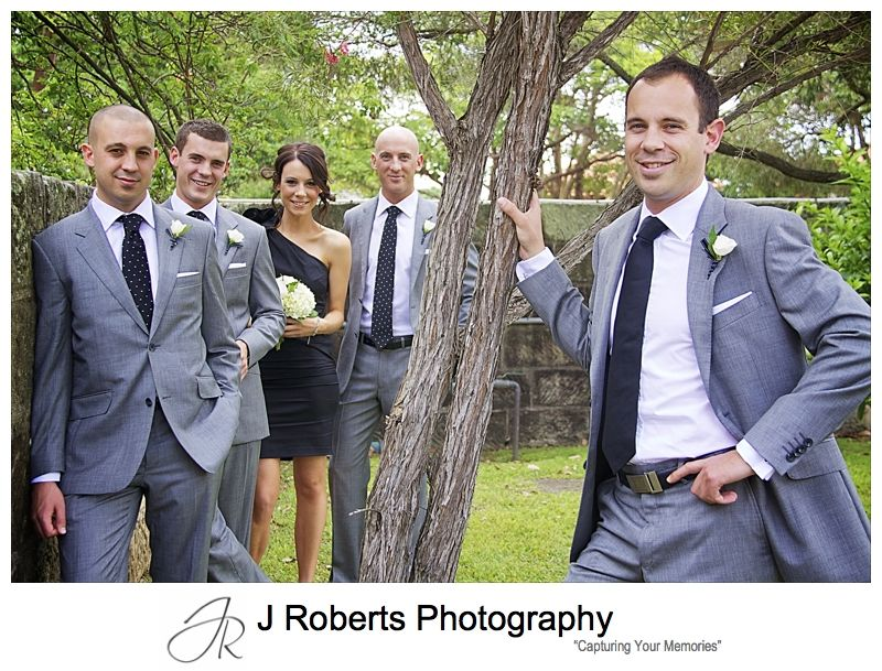 Groom with attendants - wedding photography sydney