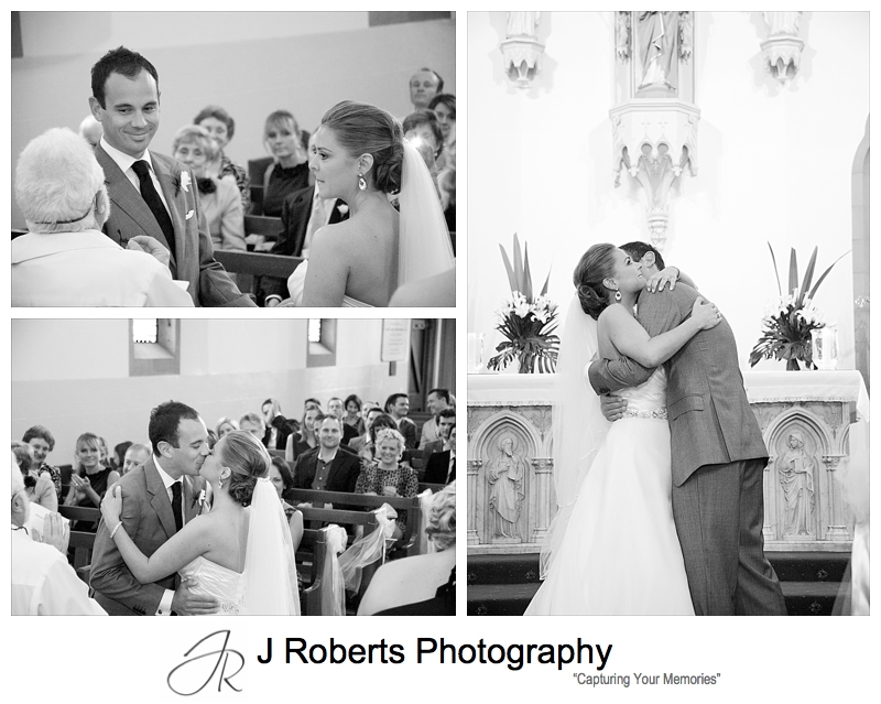 Couple vows and kiss - wedding photography sydney