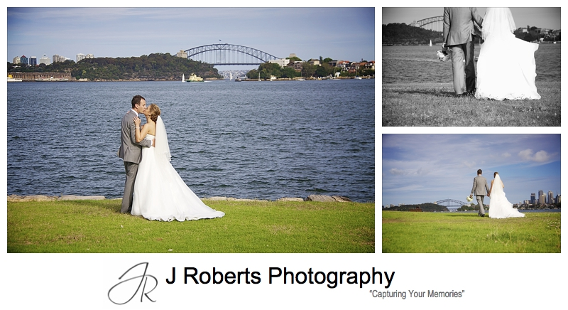 Bride and Groom at Clarkes Point Woolwich - wedding photography sydney