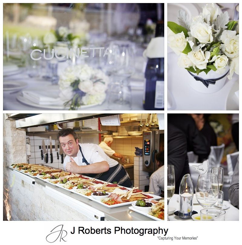 Cucinetta Restaurant Woolwich wedding setup - wedding photography sydney