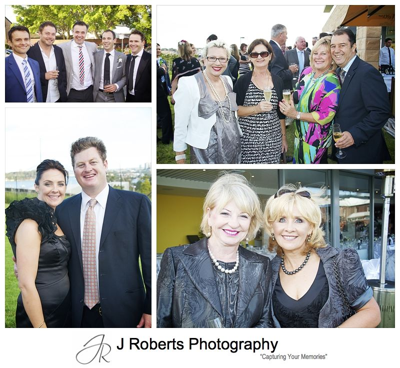 Guests enjoying drinks and canapés during wedding at Cucinetta Woolwich - wedding photography sydney