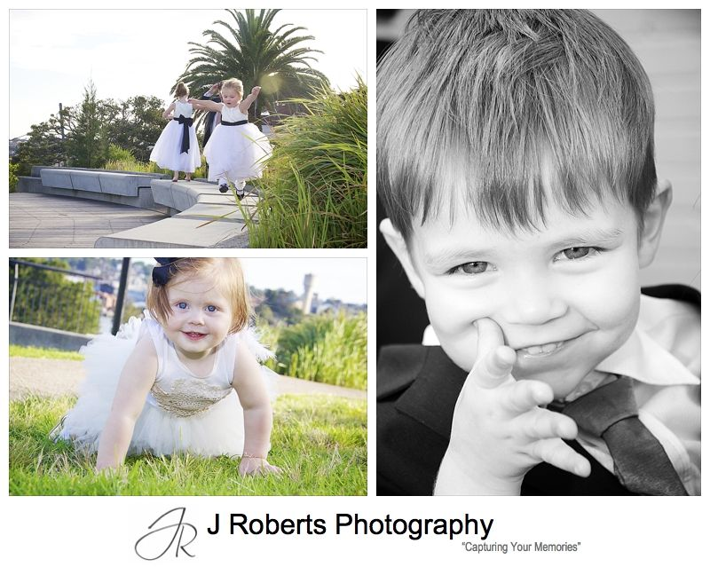 Kids enjoying wedding reception at Cucinetta Woolwich - wedding photography sydney