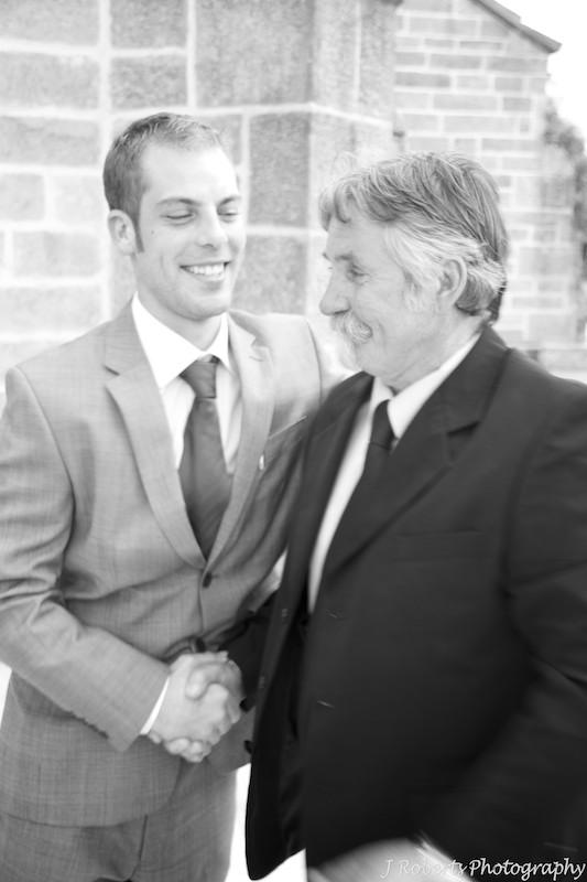 Groom and father in law - wedding photography sydney